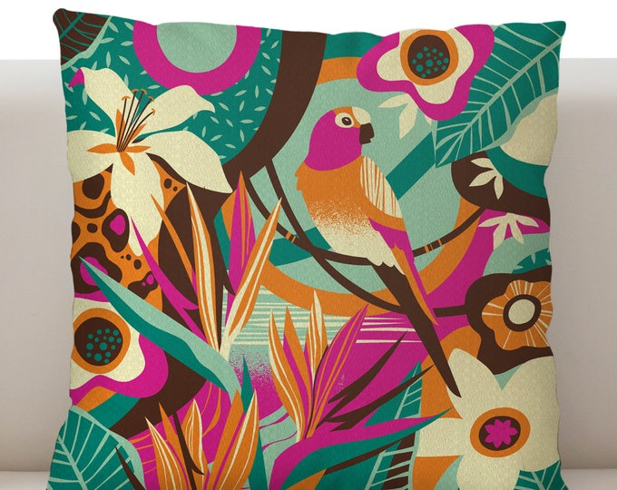 Birds of Paradise Pillow Cover