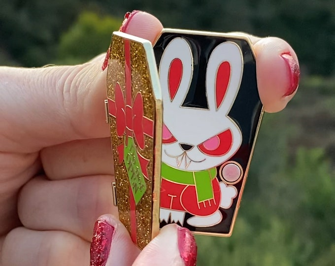 Coffin Pets Bunny Pin