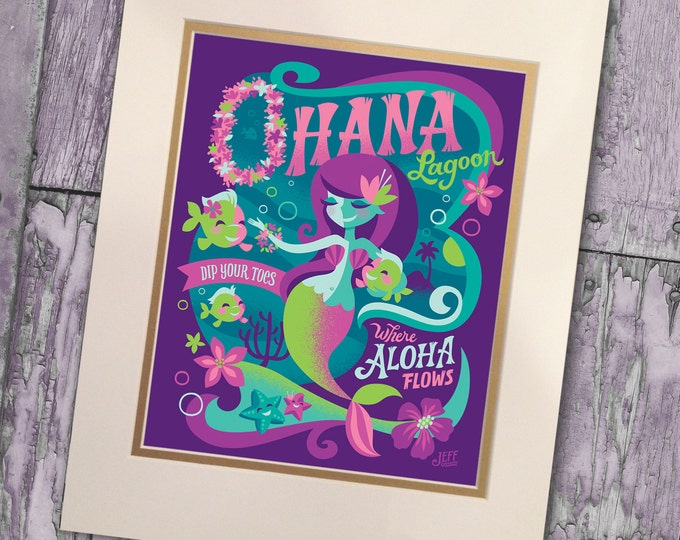 Ohana Lagoon Print