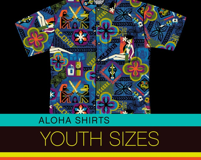 PRE ORDER, YOUTH Star Bars Aloha Shirt, Domestic Shipping Included