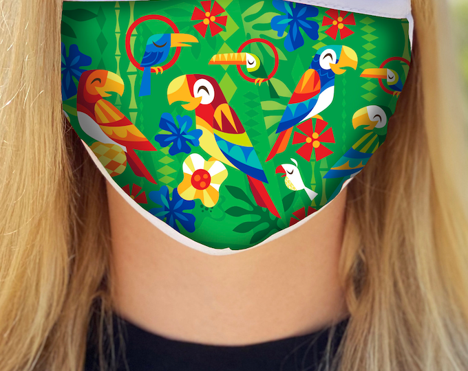 Birds Singing Words Face Mask