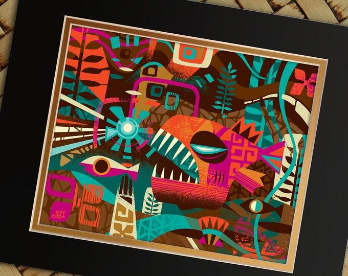 Deep Sea Tiki Print