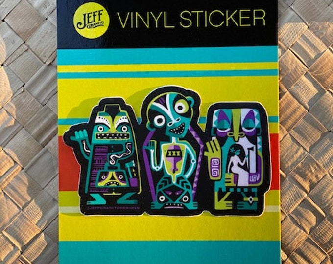 Lost Tiki Ghosts Vinyl Sticker
