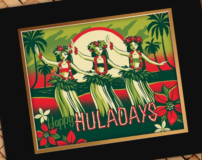 Happy Huladays Print