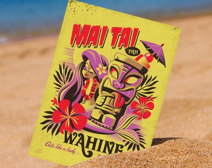 Mai Tai Pah Wahine 5 x 7 Mini Print