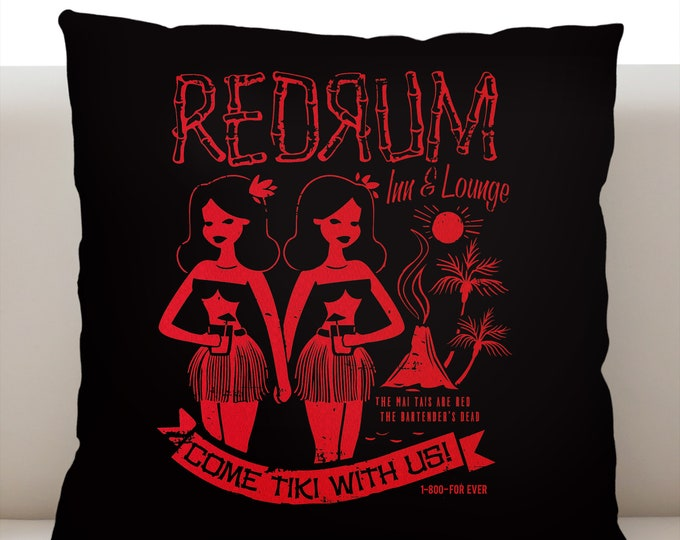 Redrum Pillow Cover Red
