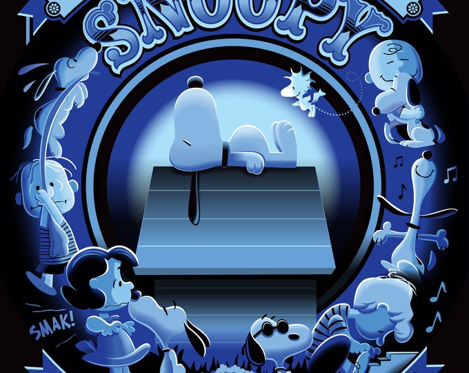 Happiness Is Snoopy JOE COOL BLUE Giclee printed on archival paper