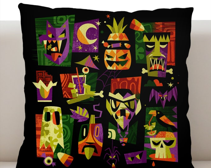 Trick or Tiki Green Pillowcase