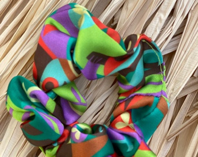 Tiki Adventure Small Silk Scrunchies Two Pack