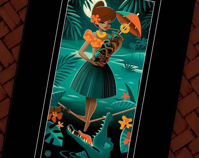 Tiki Crocktail, Double Deluxe Matted Print