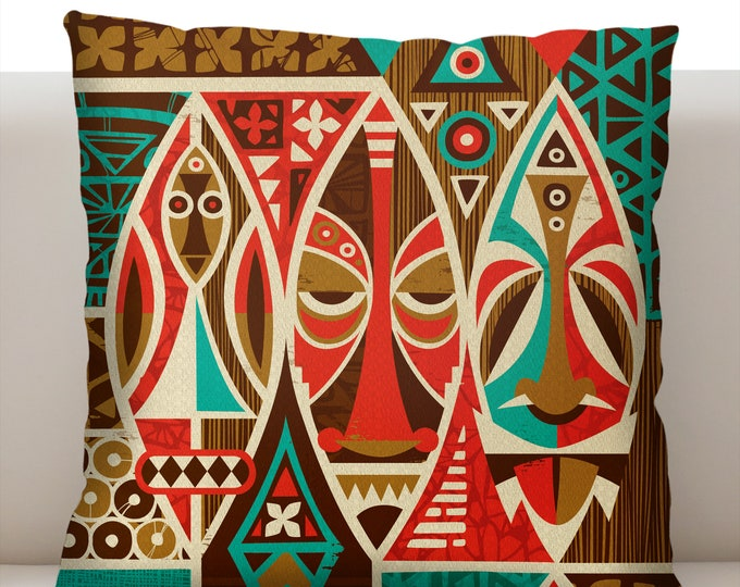 Masks Tiki Pillowcase