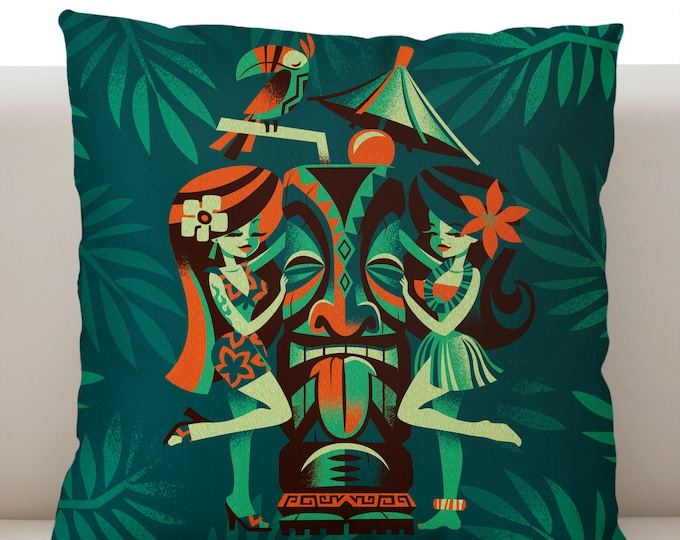 Menage A Tiki Pillowcase