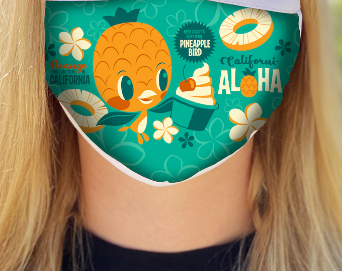 Californi-Aloha Bird Face Mask