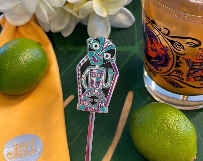 Rum Outta Time Swizzle Stick