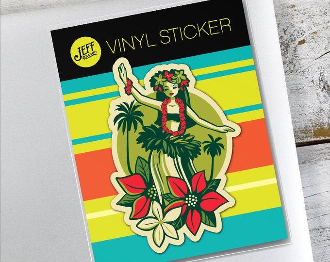 Happy Huladays  Vinyl Sticker