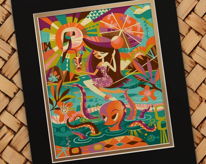 Portrait Of A Wahine Octopus Print