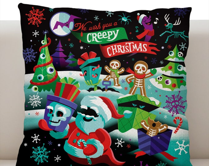 Creepy Christmas Pillow Cover