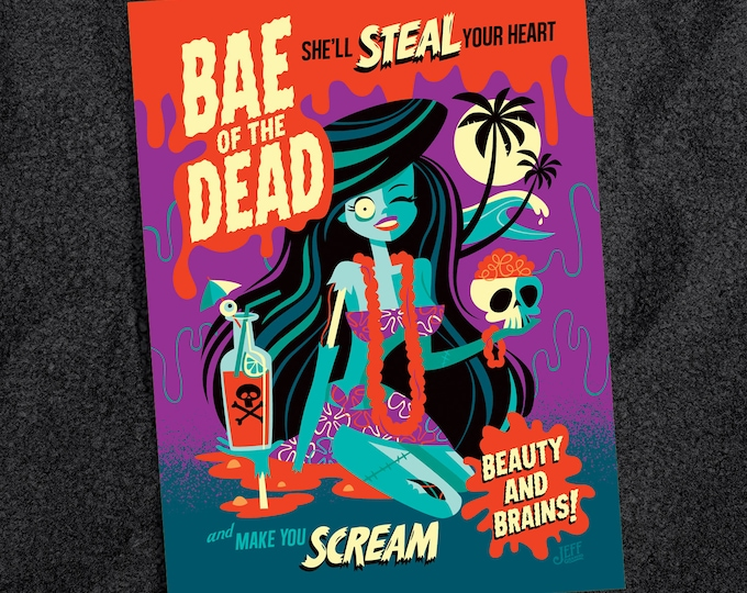 Bae Of The Dead Postcard