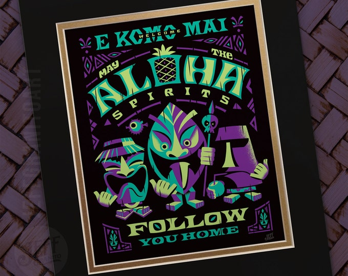 Aloha Spirits Night Print