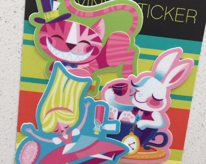 Wonderland Vinyl Sticker Set
