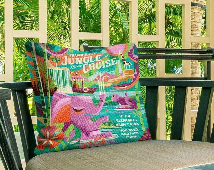Outdoor Pillow Cover, Jungle Cruising