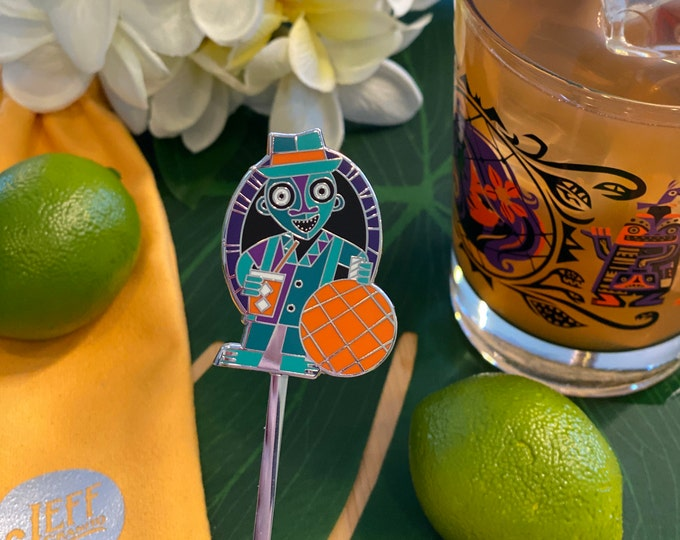 Pre-Order Float Lamp Ghost Swizzle Stick, Delivery Early September, Make a Drink AND a Splash~ Cheers!