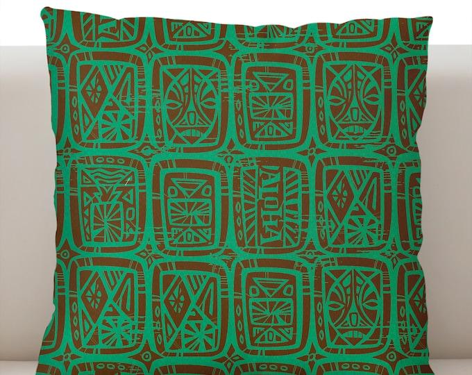 Tattoo Breeze Aqua Pillow Cover