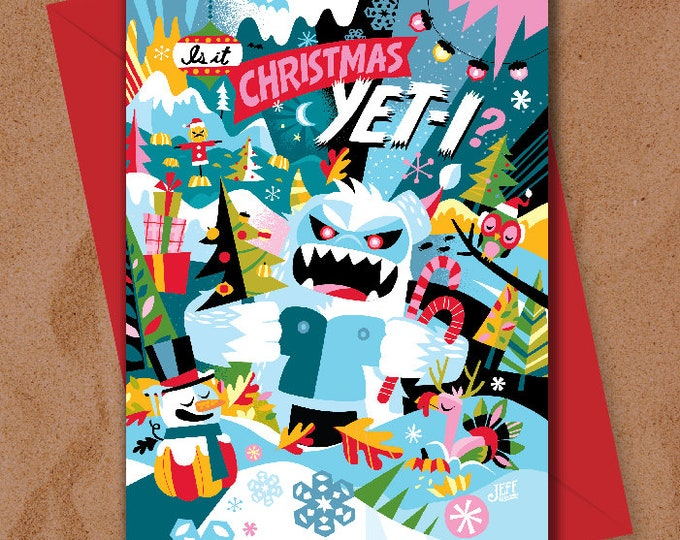 Is it Christmas Yeti? Greeting Card