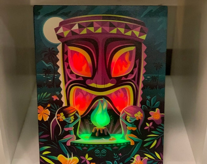 "Glow Giclee ""The Offering"" By Jeff Granito,LED Light up 8 X 10 Canvas,High saturated colors by day,switch to on position for night time Glow"