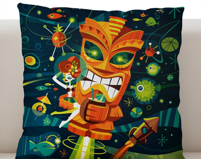 Tiki Planet Pillowcase