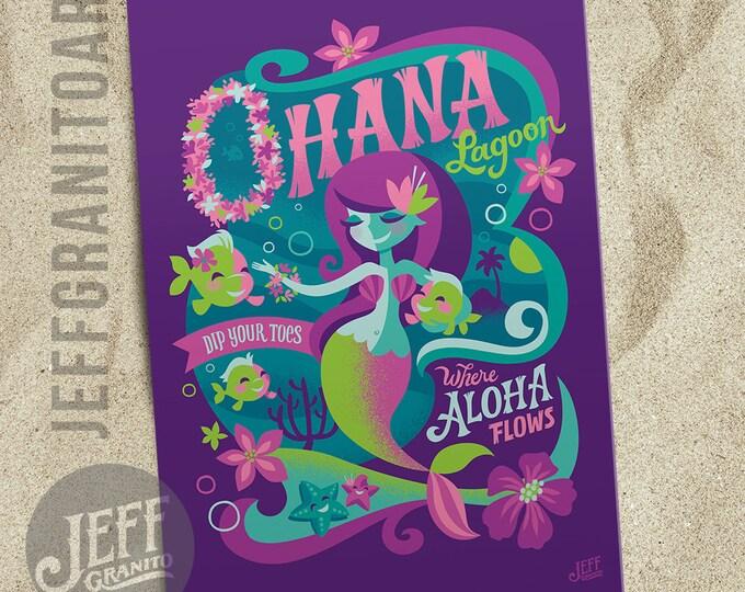 Ohana Lagoon Postcard