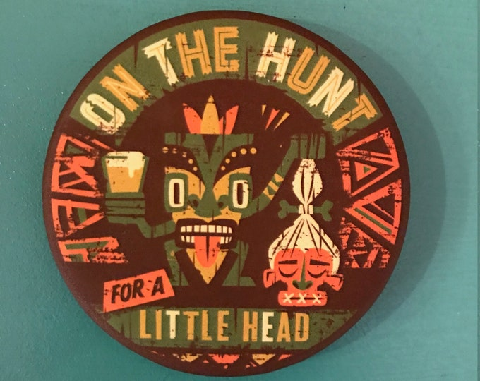 Head Hunter Magnet Bottle Opener