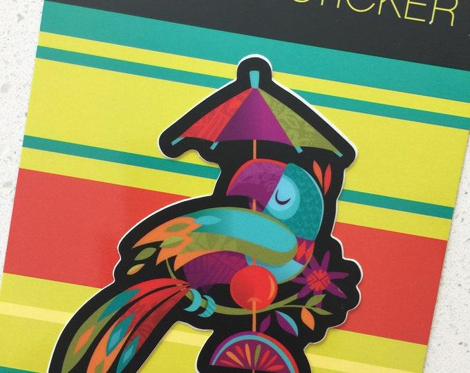 Tiki Bird Vinyl Sticker