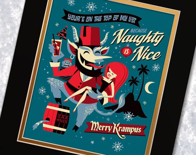 Merry Krampus Print
