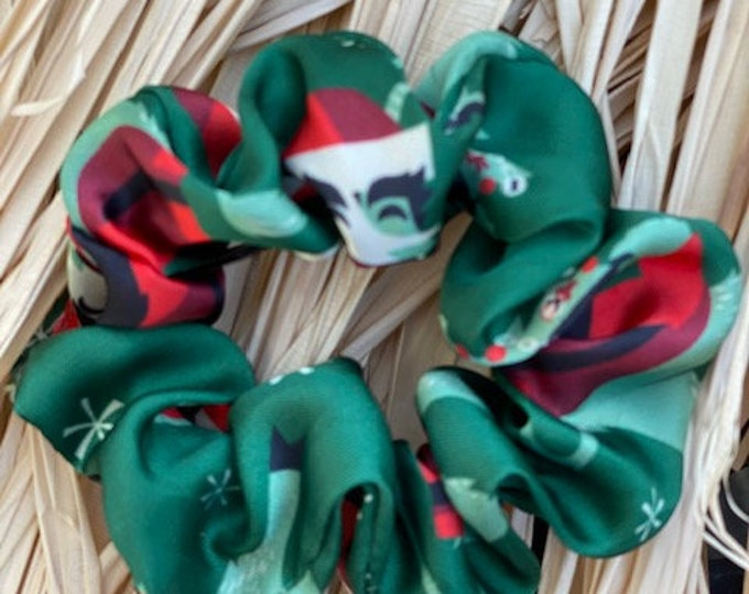 Krampus Small Silk Scrunchies Two Pack