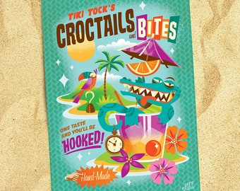 Tick Tock Croctail's Postcard