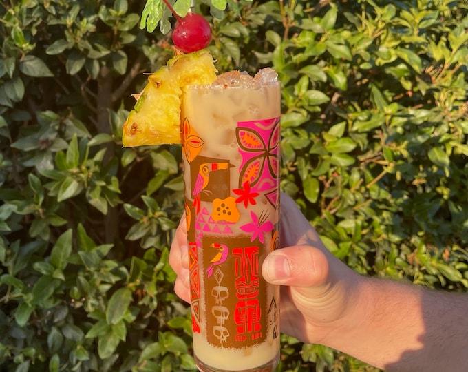 Tiki Safari Zombie Cocktail Glass