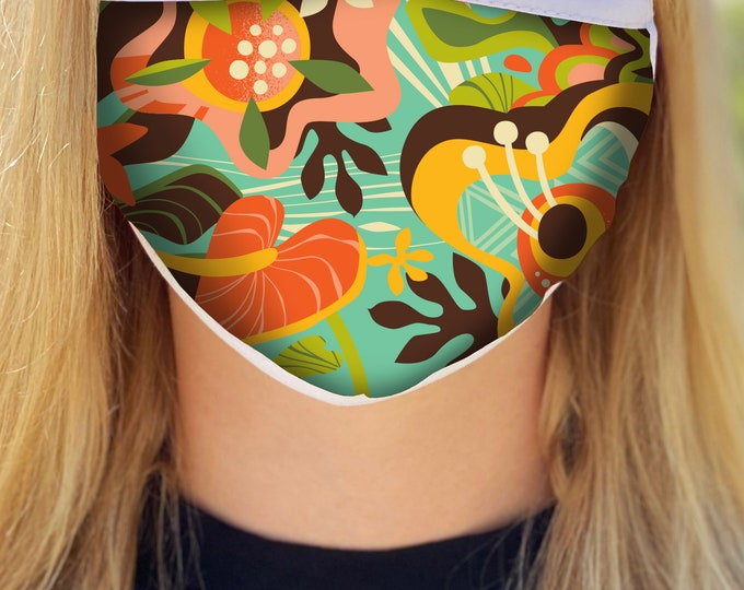 Wailea Floral Face Mask