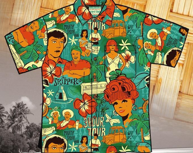 LAST CHANCE, Three Hour Tour 1st Edition Unisex Aloha Shirt
