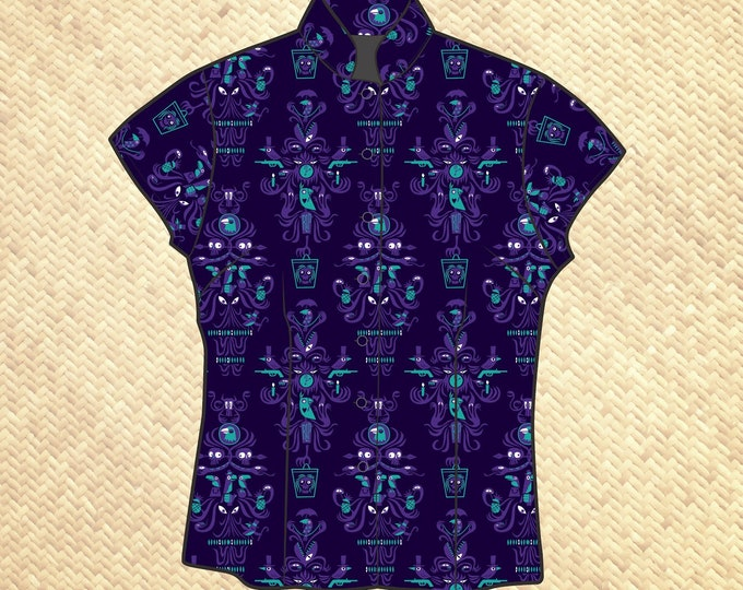 Last Chance, Creepy, Creepy, Creepy Room Women's Aloha Shirt