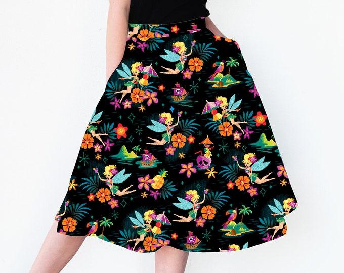 LAST CHANCE, Midnight Tiki Belle Aloha Skirt with Pockets