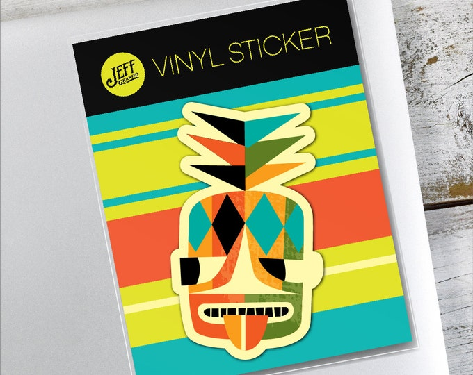 Pineapple Head Vinyl Sticker