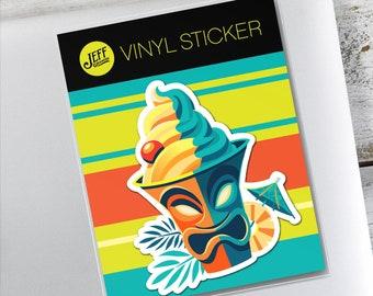 Dole Whip Vinyl Sticker, Tiki, Pineapple Whip, Stickers, Scrapbooking, Tiki Bar, Cocktails, Snacks, Summer Treats, Enchanted Tiki Room, Yum
