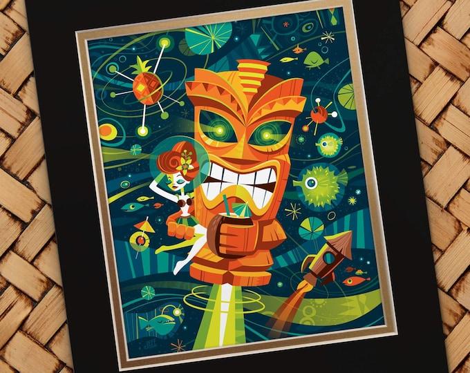 Tiki Planet Art Print