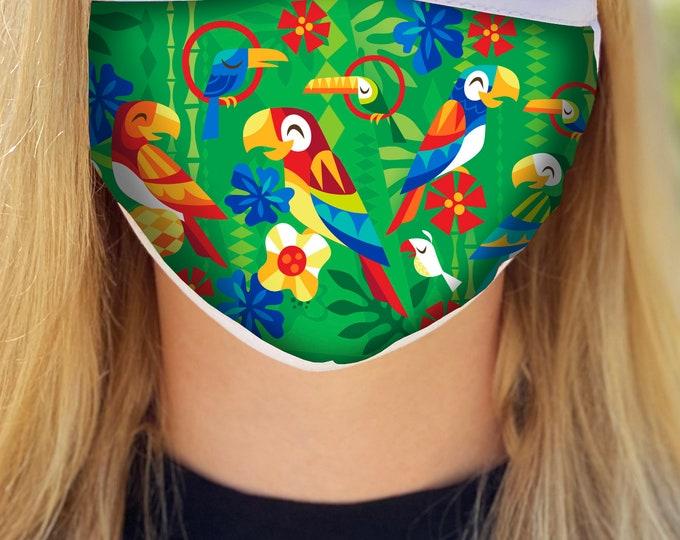 Birds Singing Words Face Mask