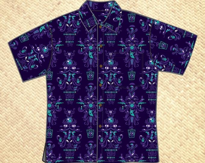 Last Chance, Creepy, Creepy, Creepy Room Unisex Aloha Shirt
