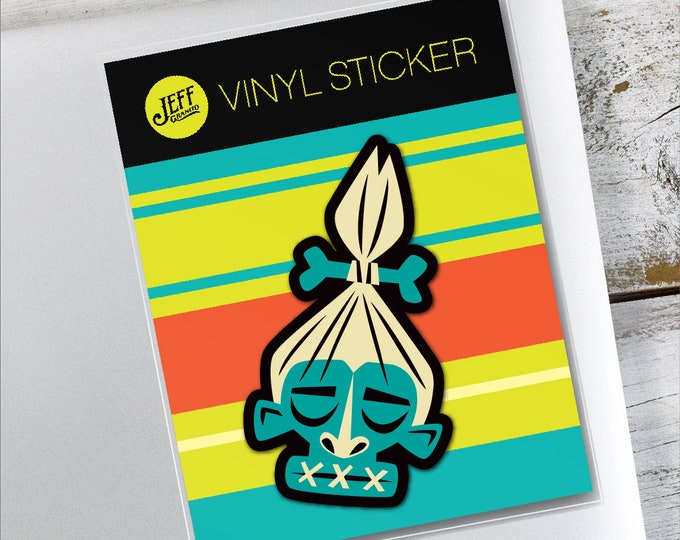 Shrunken Head Vinyl Sticker