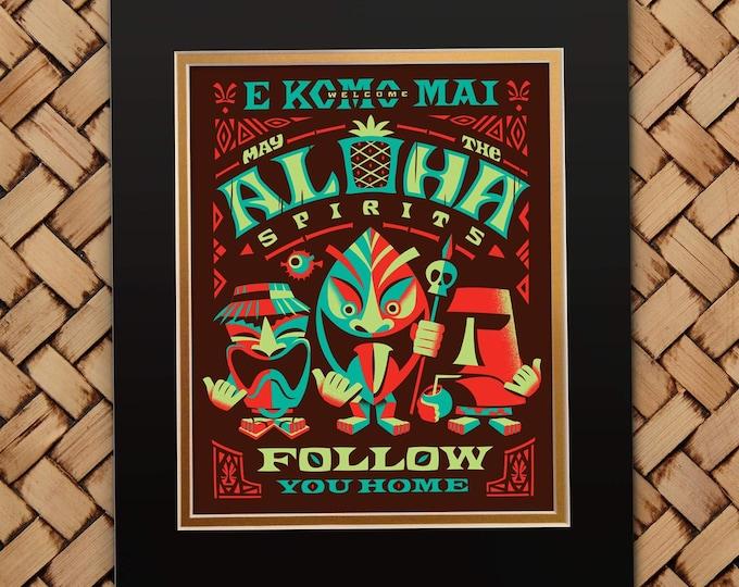 Aloha Spirits Orange Print