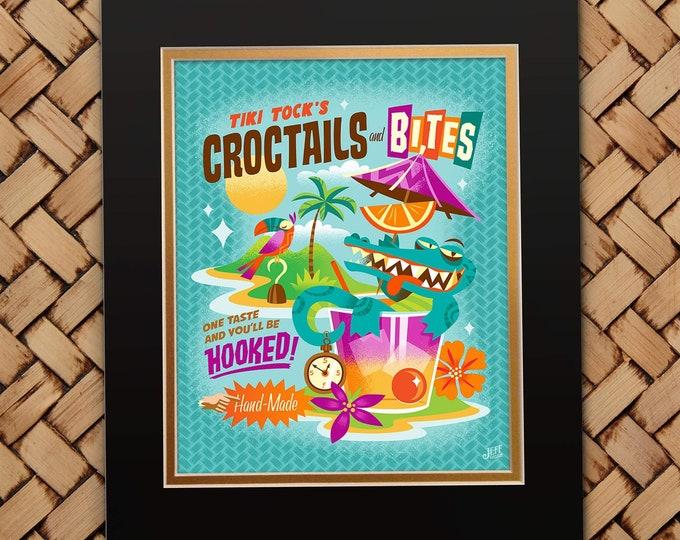 Crocktails and Bites Print
