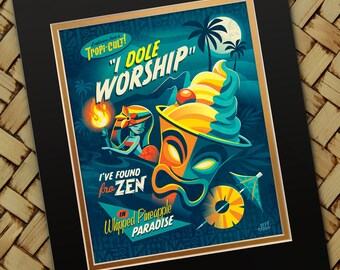 I Dole Worship, Jeff Granito, Dole Whip, Pineapple Whip, Disneyland, Tiki, Tiki Bar, Disney Snacks, Snack, Adventureland, Hawaiian, Dessert